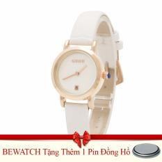 Chiết Khấu Đồng Hồ Nữ Day Da Bewatch Trắng Tặng Kem 01 Vien Pin