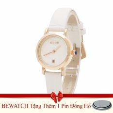 Giá Bán Đồng Hồ Nữ Day Da Bewatch Trắng Tặng Kem 01 Vien Pin Mới Nhất