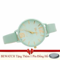 Mua Đồng Hồ Nữ Day Da Bewatch Xanh Tặng Kem 01 Vien Pin Trực Tuyến