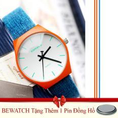 Chiết Khấu Đồng Hồ Nữ Day Da Bewatch Xanh Tặng Kem 01 Vien Pin Có Thương Hiệu