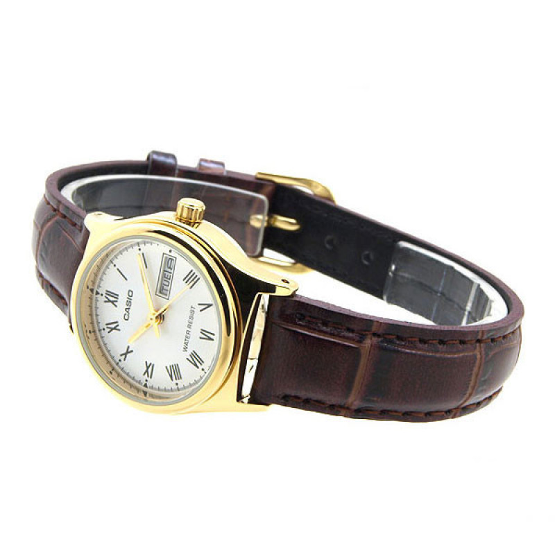 Đồng hồ nữ dây da Casio LTP-v006gl-7BUDF (Nâu)