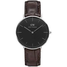 Đồng hồ nữ dây da Daniel Wellington DW00100146 (Đen).