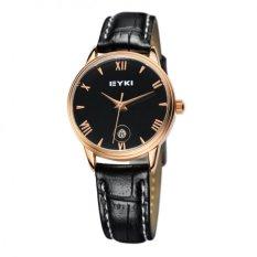 Nơi bán Đồng hồ nữ dây da EYKI EET8731L-RG0202 (Đen mặt đen)