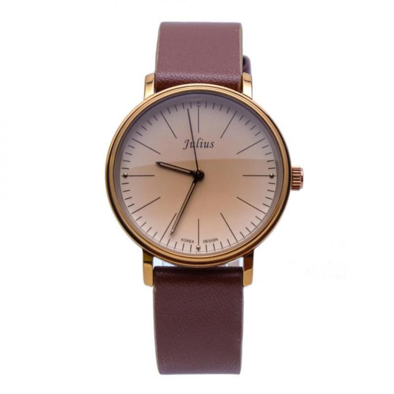Đồng hồ nữ dây da JULIUS 1005 (Nâu)