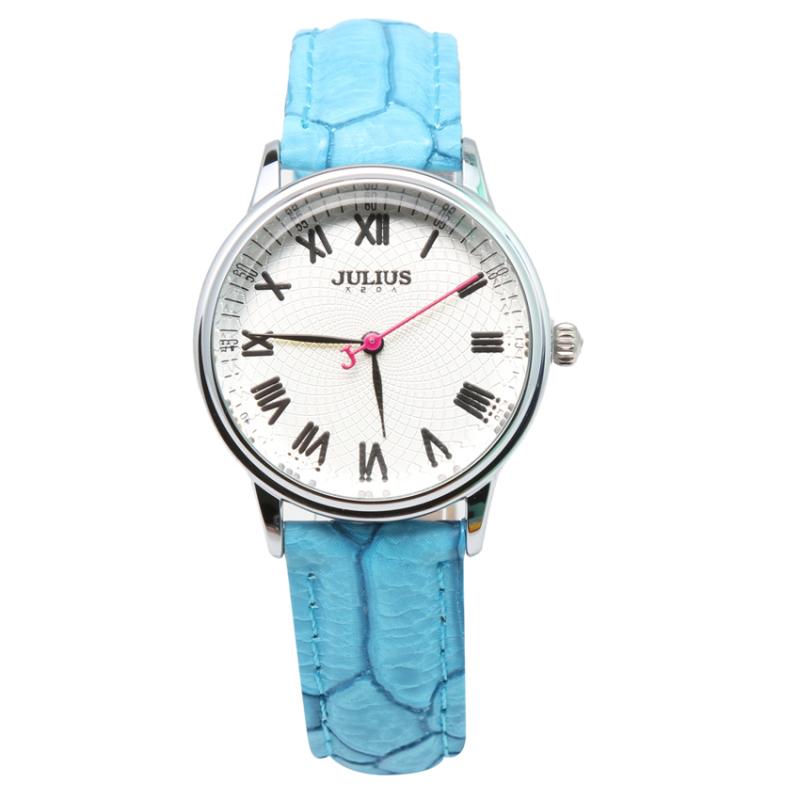 Nơi bán Đồng hồ nữ dây da Julius NEJA-857L-BL (Xanh)