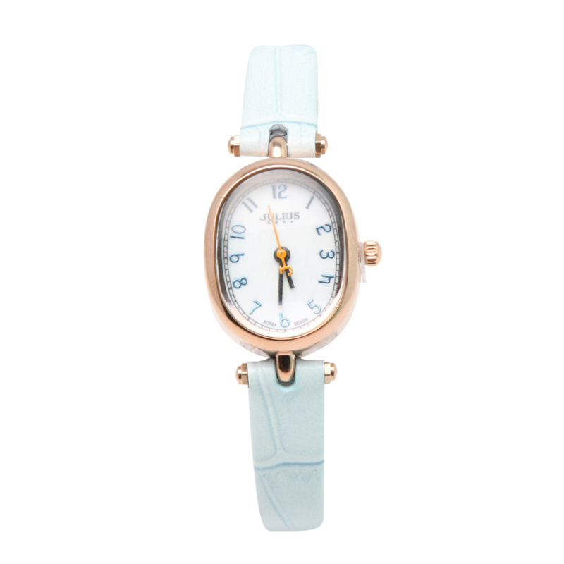 Nơi bán Đồng hồ nữ dây da Julius NEJA-860-BL (Xanh nhạt)