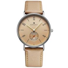 Nơi bán Đồng hồ nữ dây da KingSky  full kim ZE91 (màu nâu nhạt)