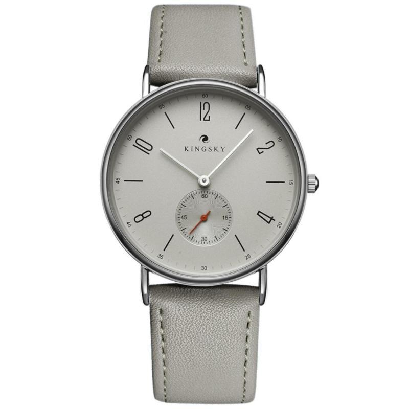 Nơi bán Đồng hồ nữ dây da KingSky  full kim ZE91 (màu xám)