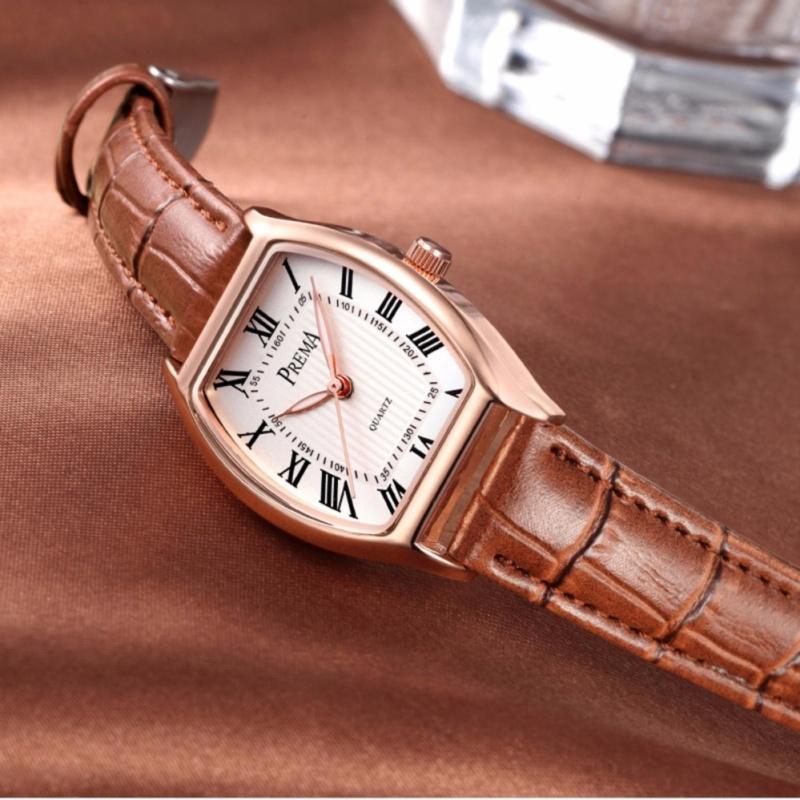 Nơi bán Đồng hồ nữ dây da Prema - Nâu Cafe