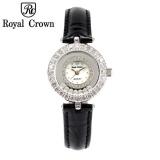 Giá Bán Đòng Hò Nữ Chinh Hang Royal Crown Italy 5308 Day Da Đen Mới Rẻ