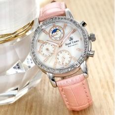 Chiết Khấu Sản Phẩm Đòng Hò Nữ Chinh Hang Royal Crown Italy 6420 Leather Strap Watch Day Da Hồng