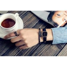 Đồng hồ nữ Dây da SDC21 (dây Đen nền Đen)