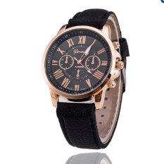 Hình ảnh Đồng hồ nữ dây da tổng hợp Geneva GE003-1 (Đen)