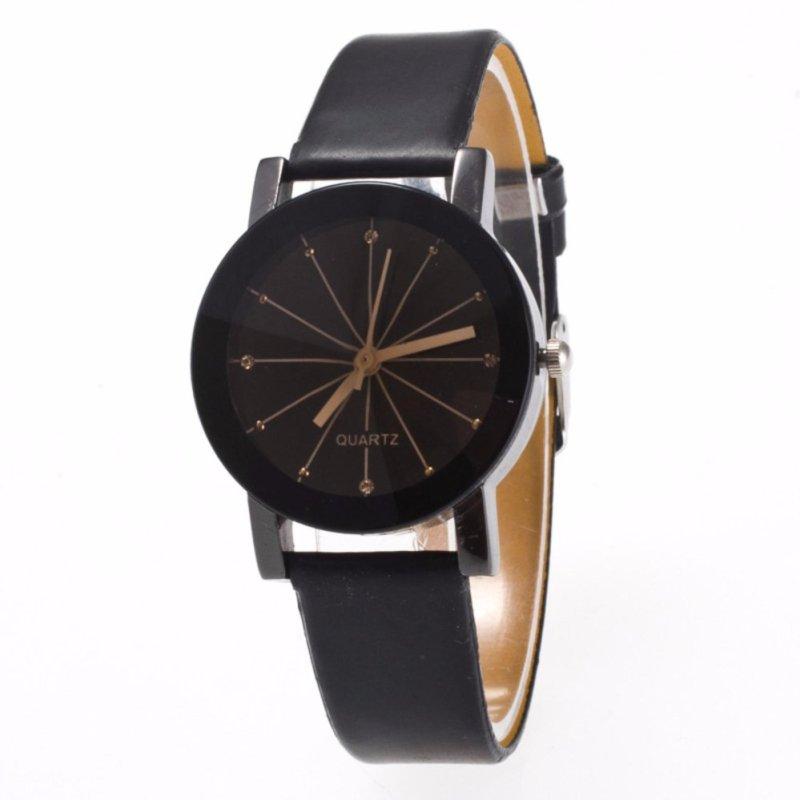 Đồng hồ nữ dây da tổng hợp Sinobi PKHRSI001-2 (đen mặt đen)