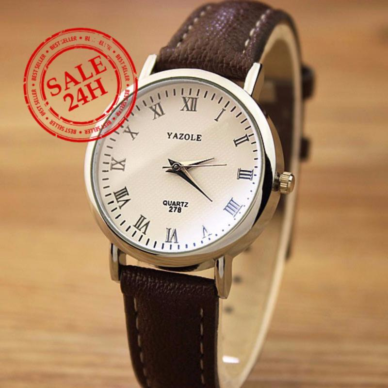 Đồng hồ nữ dây da Yazole LS044_BR5145 (Nâu)