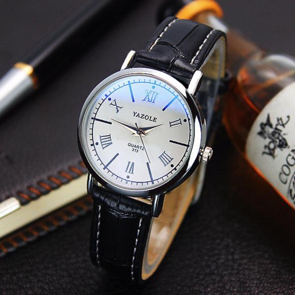 Đồng hồ nữ dây da Yazole UR039_BLWH7602
