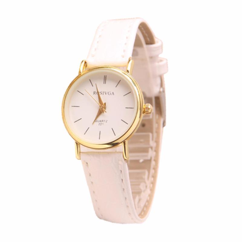 Đồng hồ nữ dây giả da Rosiva IV046_WH2151 (Trắng)