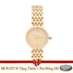 Ôn Tập Đồng Hồ Nữ Day Kim Loại Be Watch Bs1742 Vang Tặng Kem 01 Vien Pin