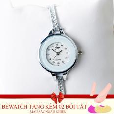 Mua Đồng Hồ Nữ Day Kim Loại Bewatch 0001841 Bạc Tặng Kem 02 Đoi Tất Trực Tuyến Rẻ