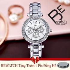 Bán Đồng Hồ Nữ Day Kim Loại Bewatch Bạc Tặng Kem 01 Vien Pin Bewatch Nguyên