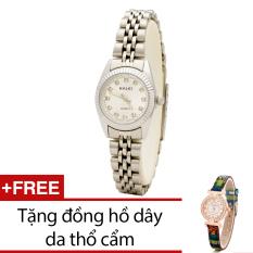 Bán Đồng Hồ Nữ Day Kim Loại Bewatch Bạc Tặng Kem 1 Đồng Hồ Day Da Thổ Cẩm Có Thương Hiệu