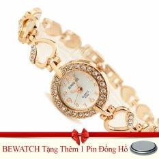 Đồng Hồ Nữ Day Kim Loại Be Watch Hr1741 Vang Tặng Kem 01 Vien Pin Oem Chiết Khấu 40