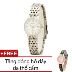 Đồng Hồ Nữ Day Kim Loại Bewatch Trắng Tặng Kem 1 Đồng Hồ Day Da Thổ Cẩm Trong Hà Nội