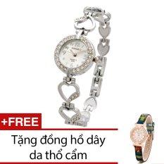 Bán Đồng Hồ Nữ Day Kim Loại Bewatch Trắng Tặng Kem 1 Đồng Hồ Day Da Thổ Cẩm Oem Trong Hà Nội