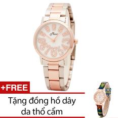 Ôn Tập Đồng Hồ Nữ Day Kim Loại Bewatch Vang Kim Tặng Kem 1 Đồng Hồ Day Da Thổ Cẩm Bewatch Trong Hà Nội