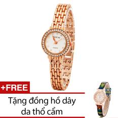 Giá Bán Đồng Hồ Nữ Day Kim Loại Bewatch Vang Kim Tặng Kem 1 Đồng Hồ Day Da Thổ Cẩm Bewatch Hà Nội