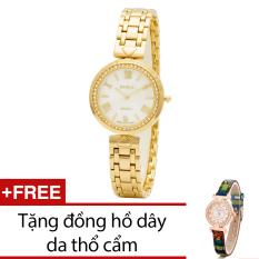 Giá Bán Đồng Hồ Nữ Day Kim Loại Bewatch Vang Tặng Kem 1 Đồng Hồ Day Da Thổ Cẩm Bewatch