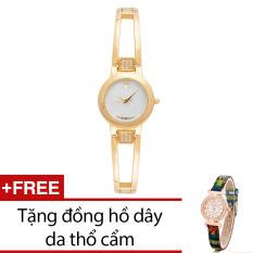 Giá Bán Đồng Hồ Nữ Day Kim Loại Bewatch Vang Tặng Kem 1 Đồng Hồ Day Da Thổ Cẩm Bewatch Nguyên