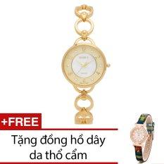 Ôn Tập Đồng Hồ Nữ Day Kim Loại Bewatch Vang Tặng Kem 1 Đồng Hồ Day Da Thổ Cẩm Mới Nhất