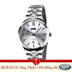 Bán Đồng Hồ Nữ Day Kim Loại Skmei 0511 08Na Trắng Tặng Kem 01 Vien Pin Rẻ