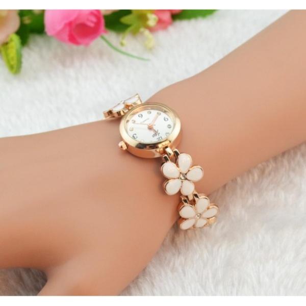[HCM]Đồng hồ nữ dây kim loại thời trang vàng gold 1953( vàng)