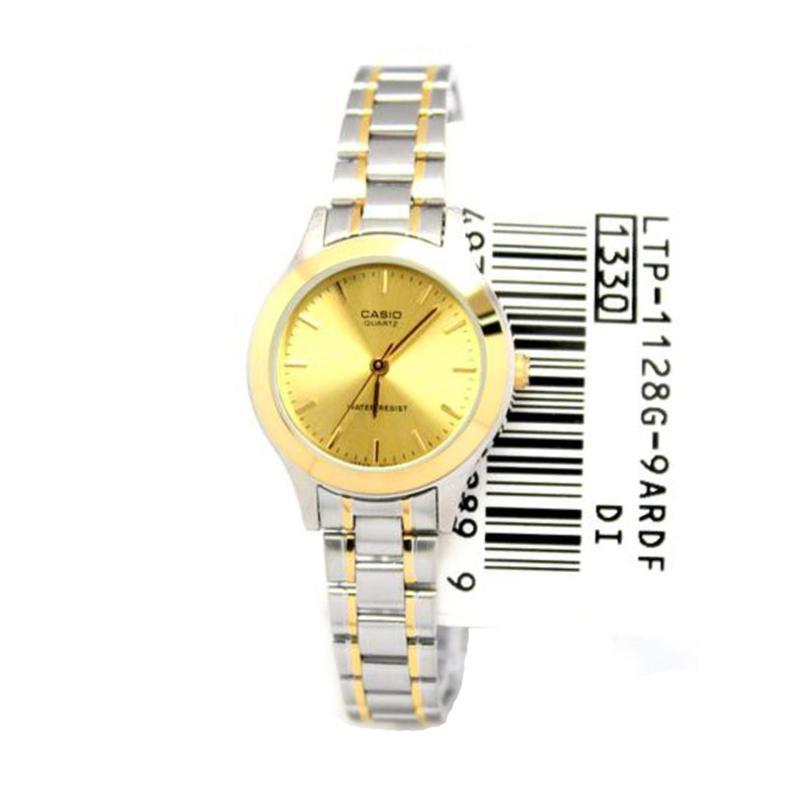 Đồng hồ nữ dây thép không gỉ Casio LTP-1128G-9ARDF
