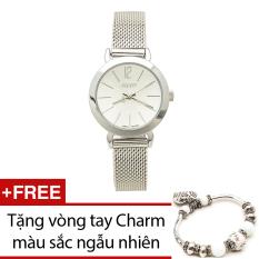 Đồng hồ nữ dây thép không gỉ Julius JU970 (Bạc) + Tặng 1 vòng tay Charm bán chạy