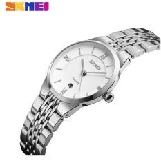 Đồng hồ nữ dây thép không gỉ siêu mỏng SKMEI 9139 (trắng)