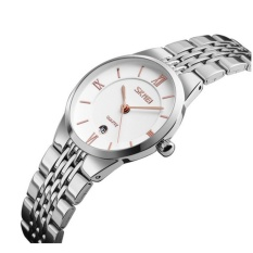 Đồng hồ nữ dây thép không gỉ siêu mỏng SKMEI 9139 (trắng-vàng hồng)