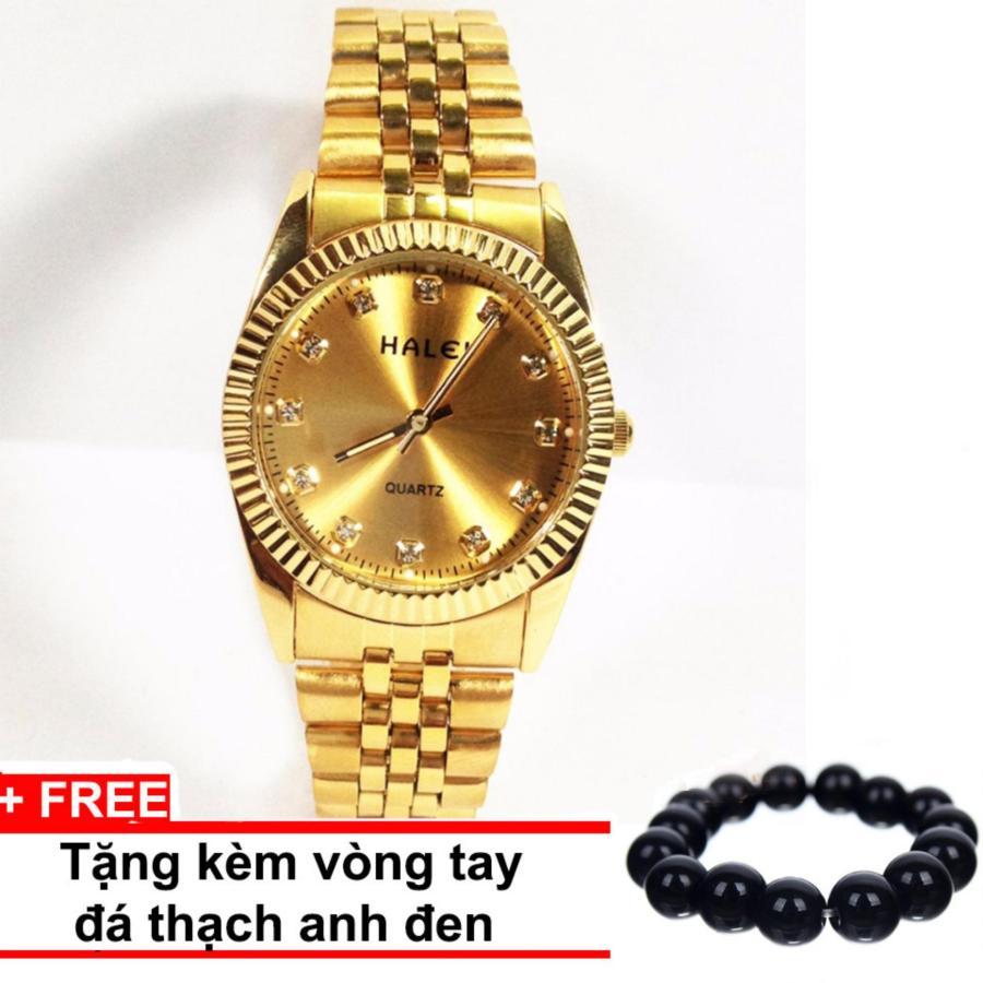 Đồng hồ nữ dây thép mạ vàng  HALEI SLHE1461