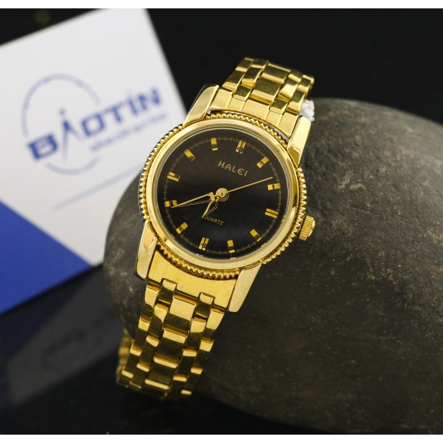 Đồng hồ nữ dây thép mạ vàng TCT HALEI SLHE1518