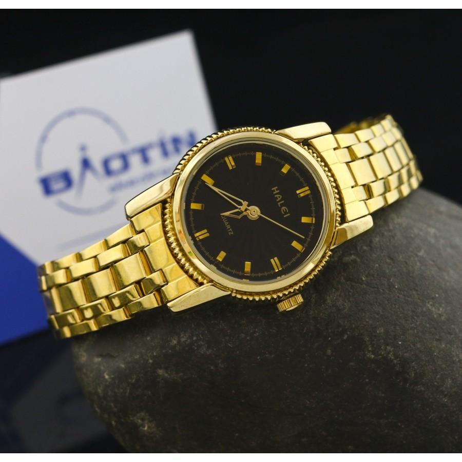 Đồng hồ nữ dây thép mạ vàng TCT HALEI SLHE1522