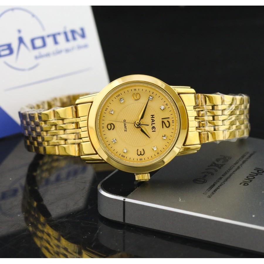 Đồng hồ nữ dây thép mạ vàng TCT HALEI SLHE1529