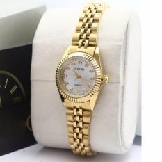 Hình ảnh Đồng hồ nữ dây thép màu vàng V6 001 chống nước HALEI