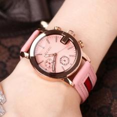 Đồng hồ nữ GUOU mặt chữ G, dây da cao cấp TP-8073