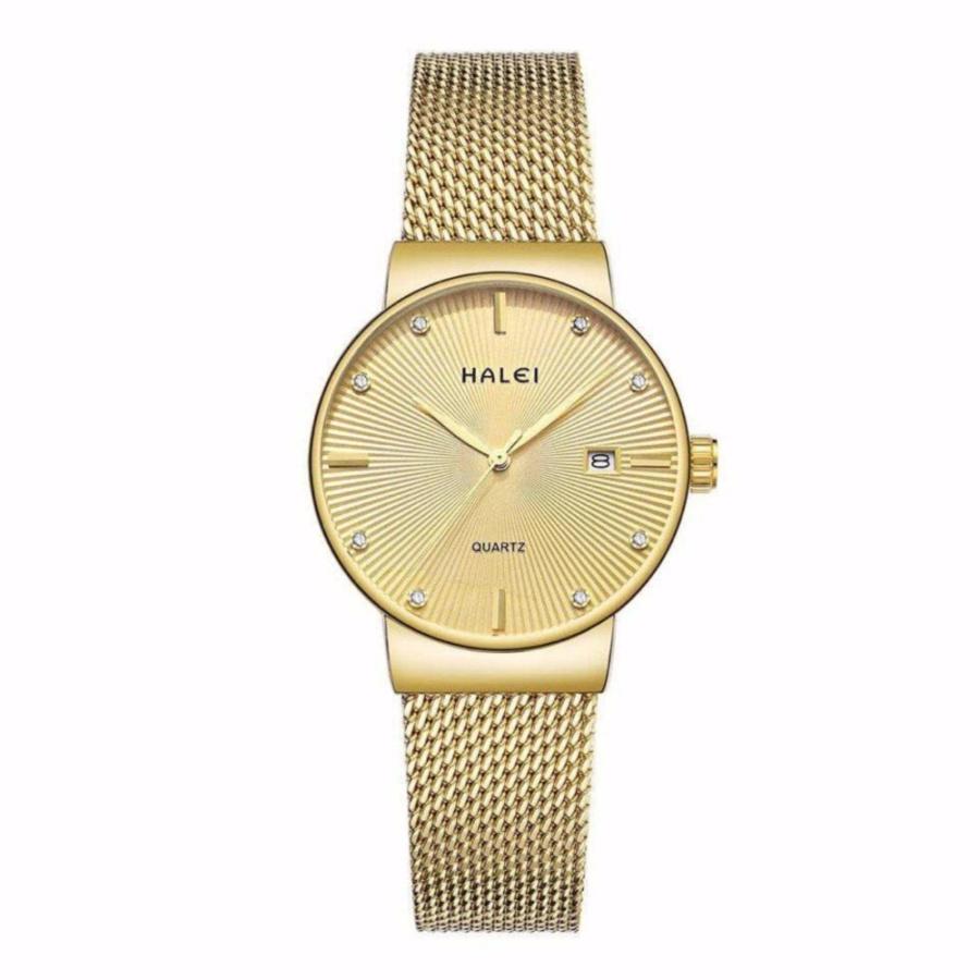 Đồng hồ nữ Halei 1533 màu vàng chống nước - N1345