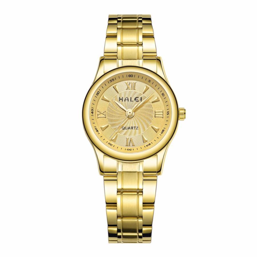 Đồng hồ nữ Halei 159 mặt vàng chống nước