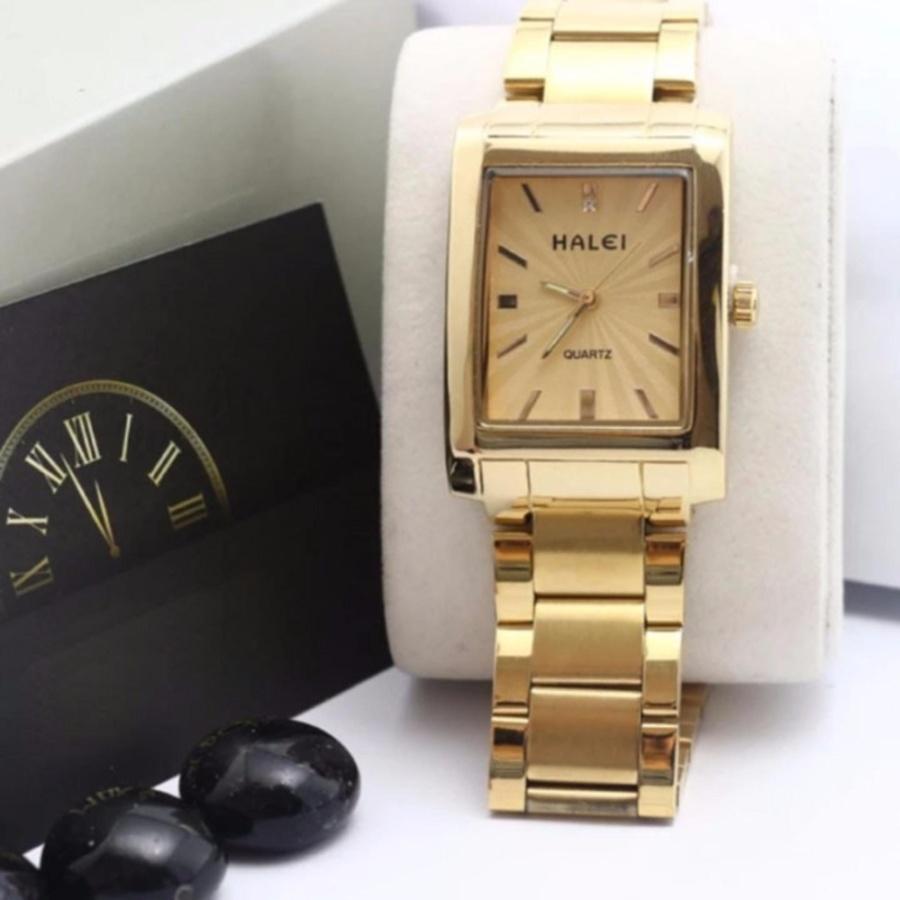 Đồng hồ nữ Halei 465 Mặt vàng chống nước - N1431