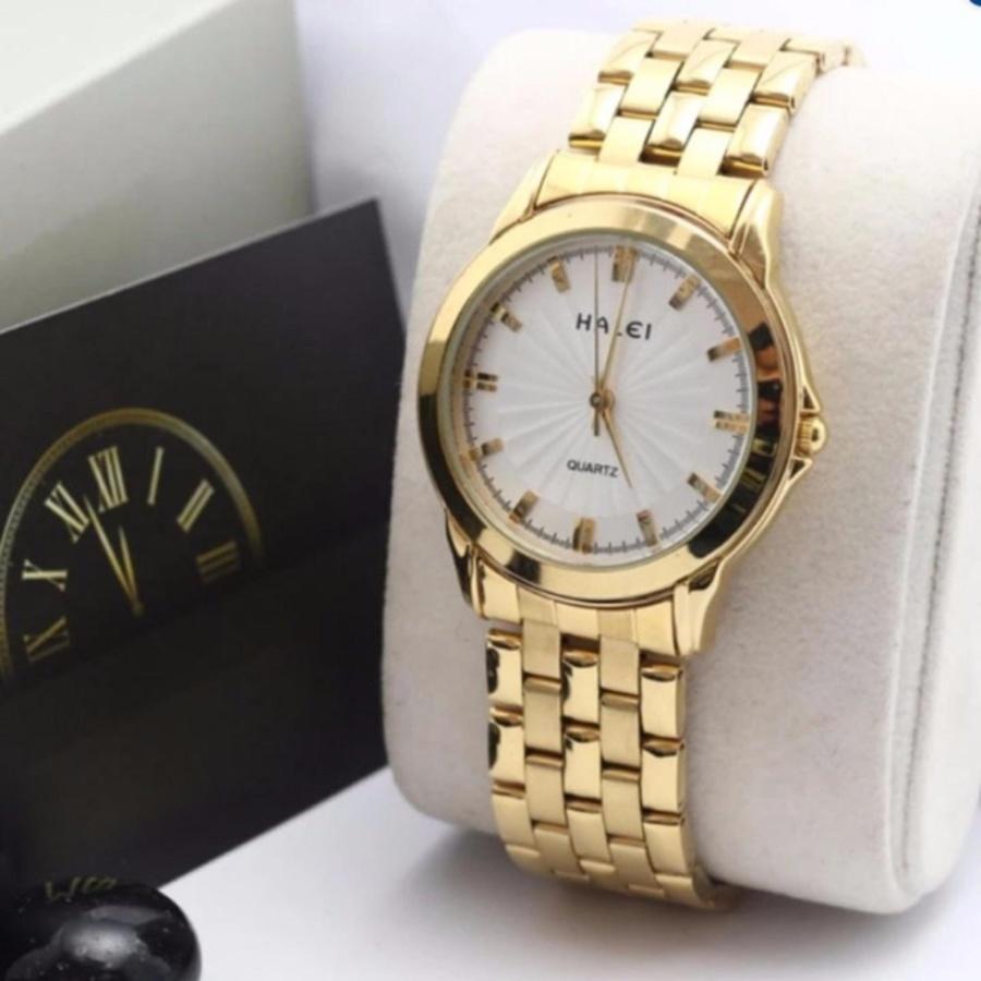 Đồng hồ nữ Halei 501 dây thép mặt trắng chống nước - N1990