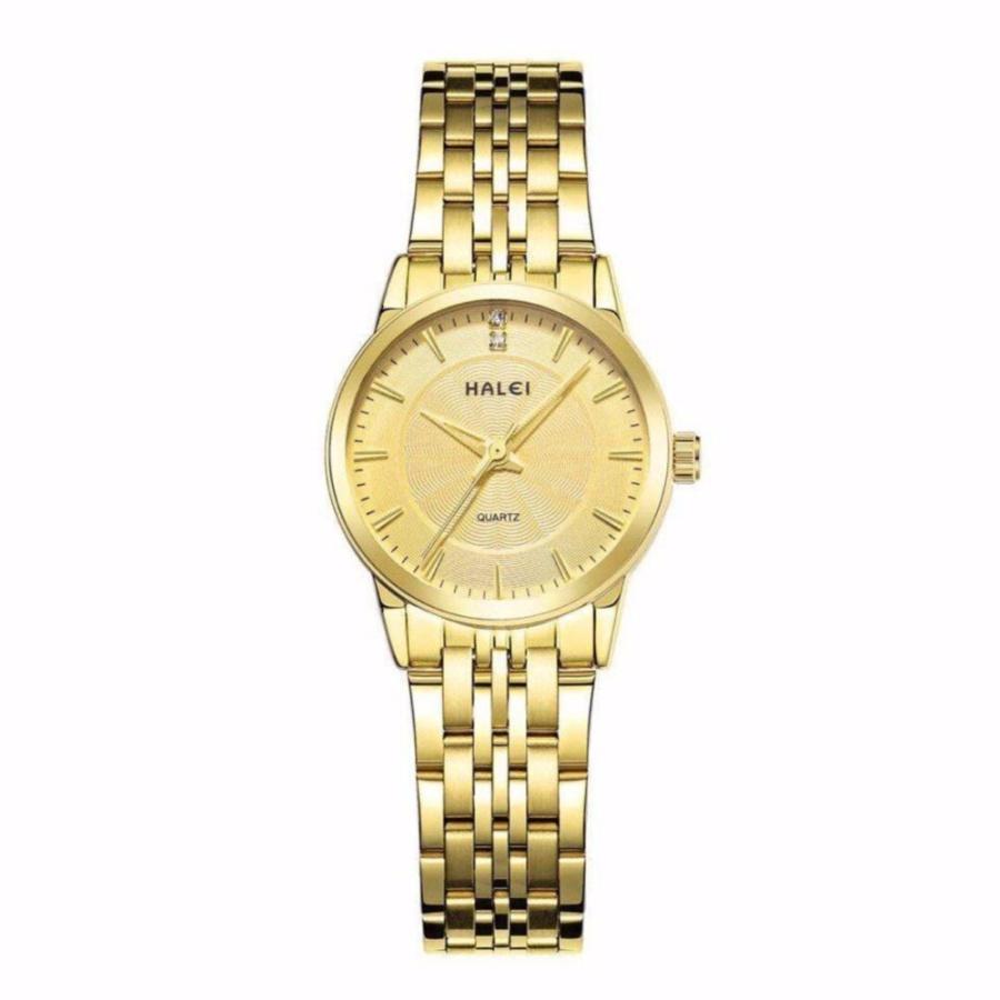 Đồng hồ nữ Halei 553 mặt vàng chống nước